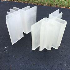Fab Architectural Post Modern Frosted Lucite Table Bases Makes A Coffee Table