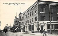 Hammond Indiana~Hohman Street @ Sibley~Bank~Electric Co~1912 B&W Postcard