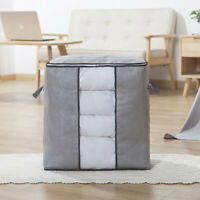 3PC Fabric Storage Bags Clothing Bins Collapsible Storage Boxes Organizers Greys