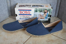 New BOBS Sketchers Day 2 Nite Sunnyville Womens Flats Shoes Navy 11 Memory Foam