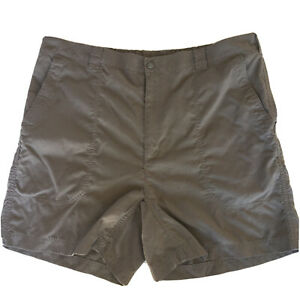 LL Bean Womens Brown Nylon Shorts Size 20 Regular 5 Pkt Hiking Outdoors Comfort