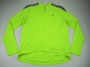 Mens XXL Pearl Izumi Select Series neon long sleeve cycling jersey *Flaw