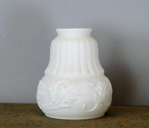 Victorian Satin Milk Glass Shade 2 1/4 Inches Fitter New Replacement Lighting