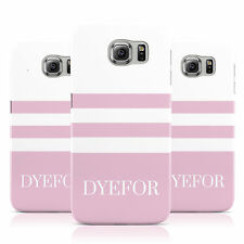 DYEFOR PERSONALISED NAME STRIPED 3 CASE COVER FOR SAMSUNG GALAXY MOBILE PHONES