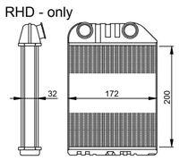 NRF Interior Heater Matrix - 54286 |Next working day to UK