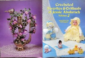 VINTAGE Crochet PATTERNS Jessie Abularach Vol.5 Flowers Angels & more