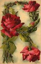 "Vintage Victorian Klein Floral Letter Initial ""R""  2"" x 3"" Fridge Magnet"