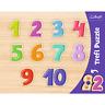 Trefl 10 Pezzi Bambini Pedagogico Numero Tema Telaio IN Legno a Forma Di Puzzle