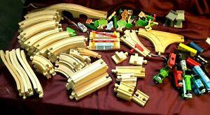 LOOK 100+ Plus Piece Lot Wood Train  Cars   THOMAS compatible