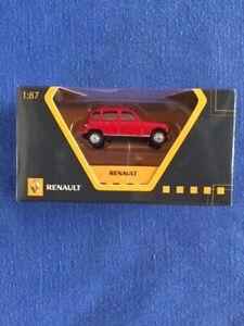 RENAULT 4L Rouge 1964 NOREV  scala 1/87 modello per Renault raro da collezione