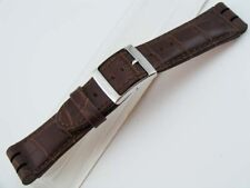 Brown Leather Watch Band Strap Large Big SWATCH Irony Chronograph Part 23mm 26mm