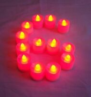 6 pcs RED Flameless Flickering LED Candle Tea Light Party Decoration Supplies