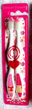 FOREVER FRIENDS - TEDDY BEAR BROKEN HEART SHAPED TOOTHBRUSHES - TWIN PACK