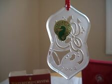 WATERFORD CRYSTAL 2002 SONGS OF CHRISTMAS DECK THE HALLS ORNAMENT MIB W/SLEEVE