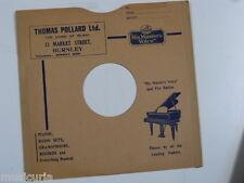 "78 rpm 10"" inch card gramophone record sleeve THOMAS POLLARD , BURNLEY"