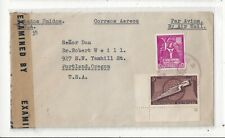 Dominican Republic 1943 Airmail Censor Cover to US