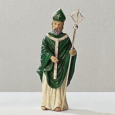 Statue St Patrick 3.5 inch Painted Resin Figurine Patron Saint Catholic Card Box