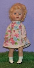 """8"""" Strung Jointed Hard Plastic Ginny Type Doll Sarold Made In England Dress 50'S"""