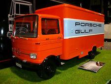 MERCEDES BENZ LP608 CAMION DE SERVICE GULF Orange au 1/18 PREMIUM 30042 camion