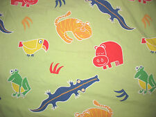 COUNTRY STORE KID'S QUEEN DUVET COVER ANIMALS HIPPO CROC GREEN RED BLUE Children
