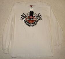 NEW LG Large Boys White Harley Davidson Legendary Long Sleeve Tee