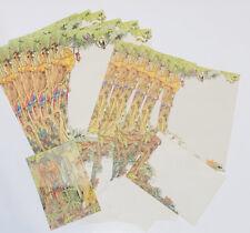 World Wildlife Fund Vintage Stationery Set Rain Forest Animals Paper Envelopes