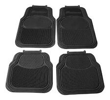 LAND ROVER BLACK HEAVY DUTY RUBBER CAR MATS Defender Discovery 2 3 4 Sport
