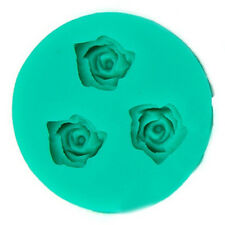 3D Mini Rose Flower Silicone Fondant Chocolate Sugar Mold Cutter Cake Decortion
