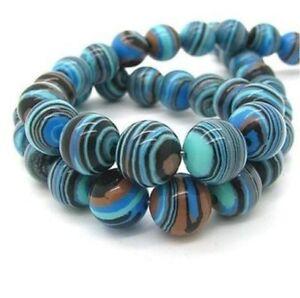 Natural 8mm Blue Synthetic Gemstone Malachite Beads Fashion Loose Beads