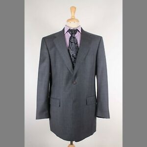 Hart Schaffner Marx 42L Gray Check Wool Two Button Mens Sport Coat Blazer Jacket