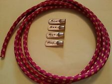 Vintage Austin 7 Box Ruby Opal Spark Plug Red Braided HT Lead Kit 1930 - 1939
