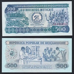 Mozambico 500 meticais 1980 FDS/UNC  B-10