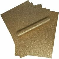 Rose Gold Glitter Card A4 Sparkly Soft Touch Virtually Non Shed 250gsm 10 Sheets