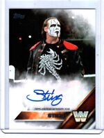 WWE Sting 2016 Topps Then Now Forever Authentic Autograph Card SN 14 of 99