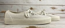 VANS Slip On Pro True White Hemp Woven Men's Shoes Size 7 UltraCush RARE