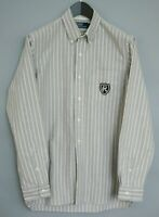 Men Polo By Ralph Lauren Shirt Grey Cotton Casual Size M MAA58