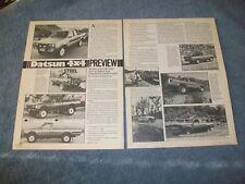 1980 Datsun 4x4 King Cab Pickup Vintage Info Article