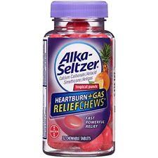 6 Pack Alka-Seltzer Heartburn + Gas Relief Chews, Tropical Punch, 32 Count Each
