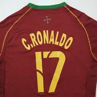 Nike Sphere Dry Cristiano Ronaldo #17 Portugal 2006 FPF World Cup Sz L Jersey