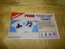 1986 Chicago Bears-Refridgerator Perry T-Shirt Order Form