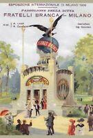 "TARGA VINTAGE ""1906 EXPO MILANO PADIGLIONE FERNET BRANCA""PUBBLICITA' ADVERTISING"