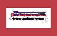 "auto-train U36B 11""x17"" Matted Print by Andy Fletcher signed"