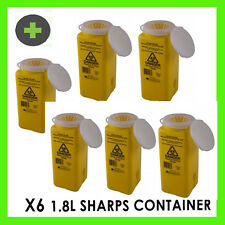 x6  Sharps Disposal Container Unit  1.8 litre AS4031/92