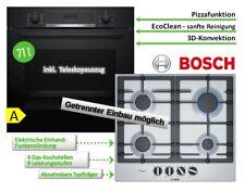 Bosch Backofen SET Gasherd Herdset Autark  3D Heißluft+ GAS Kochfeld Edelstahl