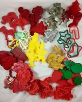 HOLIDAY COOKIE CUTTER Vintage Aluminum metal or Plastic Christmas Cookie Shapes