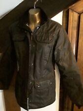 Ladies BARBOUR Wax Jacket Black Size 10 - Excellent Condition!