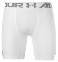UNDER ARMOUR HeatGear Core 6 Inch Compress Shorts Mens White Size 2XL *REF148