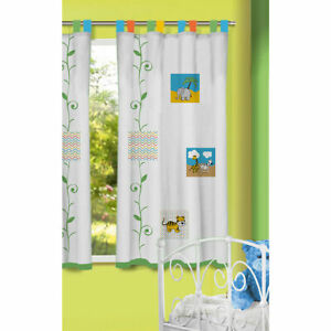Beautiful transparent Curtains For Kids Back Tab & Rod Pock Pair(Zoo Set) AU