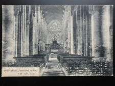 Yorkshire: Selby Abbey Destroyed by Fire Oct 19th 1906 - Old Postcard