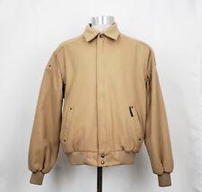 Member's Only 42 Jacket Brown Wool Blend Bomber Zip Men's